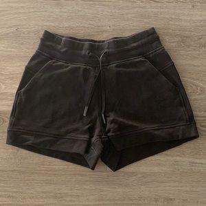 Lululemon Sweat Shorts in Faded Black